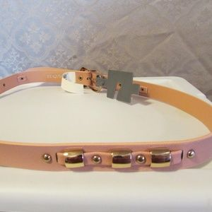 "NEW Pink Blush Belt L Goldtone Hardware 1"" wide"